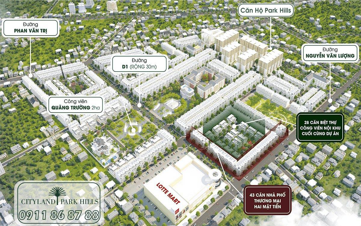 Tổng thể khu dân cư Cityland Park Hills Gò Vấp