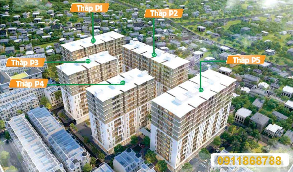 Vị trí các tháp căn hộ Cityland Gò Vấp