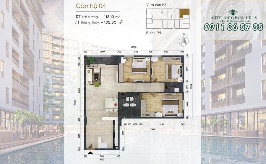 Bán căn hộ Chung cư Cityland Park Hills| căn hộ Gò Vấp view công viên