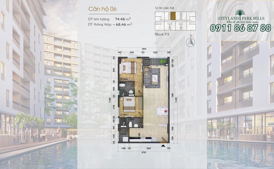 Bán căn hộ Chung cư Cityland Park Hills| căn hộ Gò Vấp lầu cao