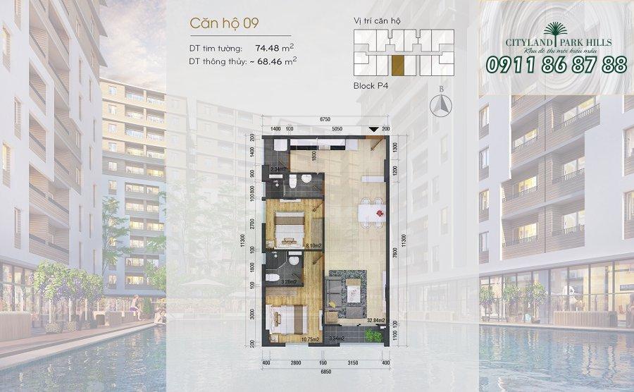 Bán căn hộ Chung cư Cityland Park Hills| căn hộ view đẹp tại Gò Vấp