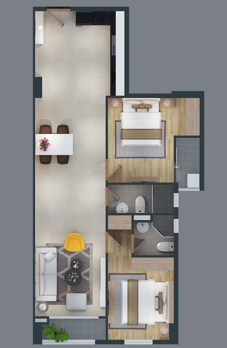 mat bang can ho cityland park hills apartmetnt ch-01-2