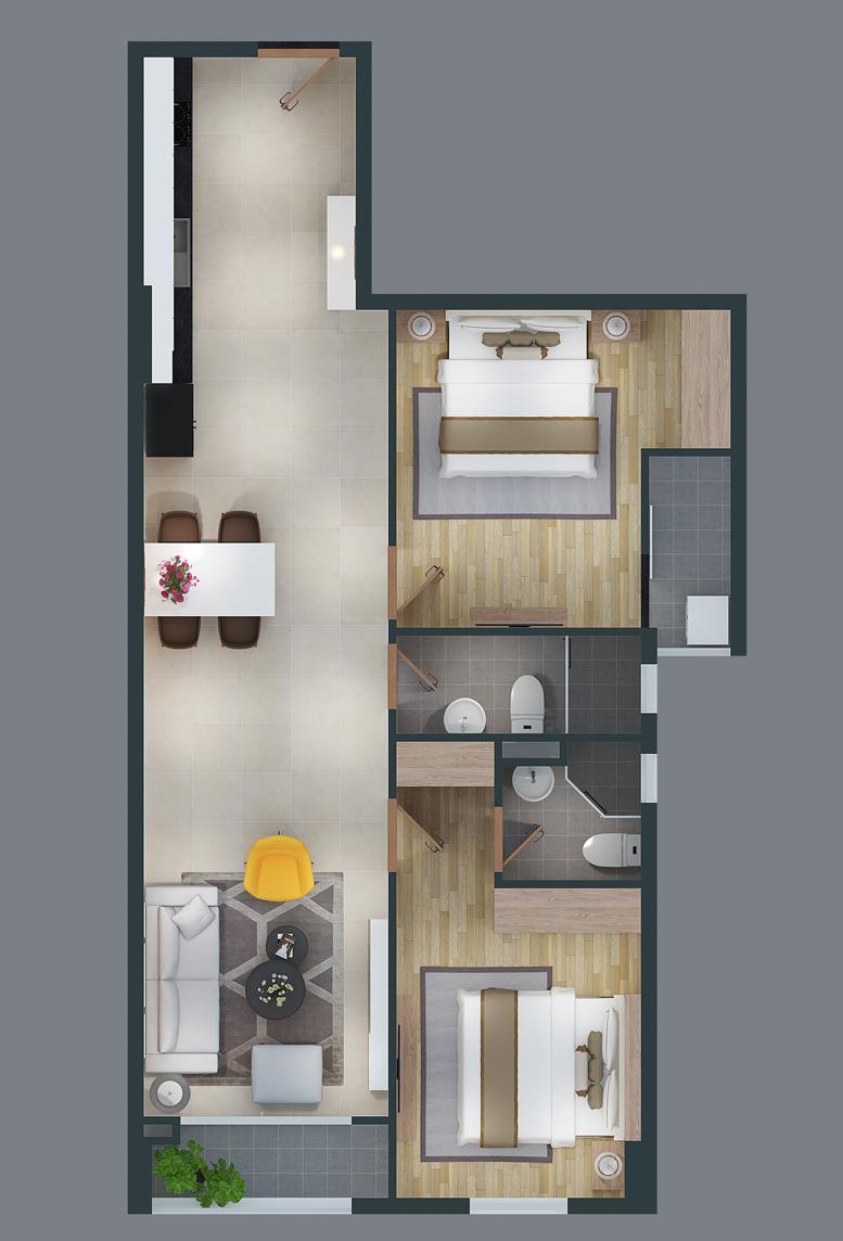 mat bang can ho cityland park hills apartmetnt ch-03-1