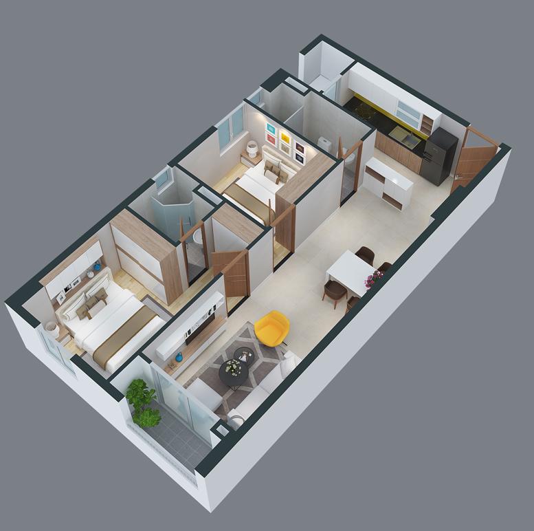 mat bang can ho cityland park hills apartmetnt ch-08-1