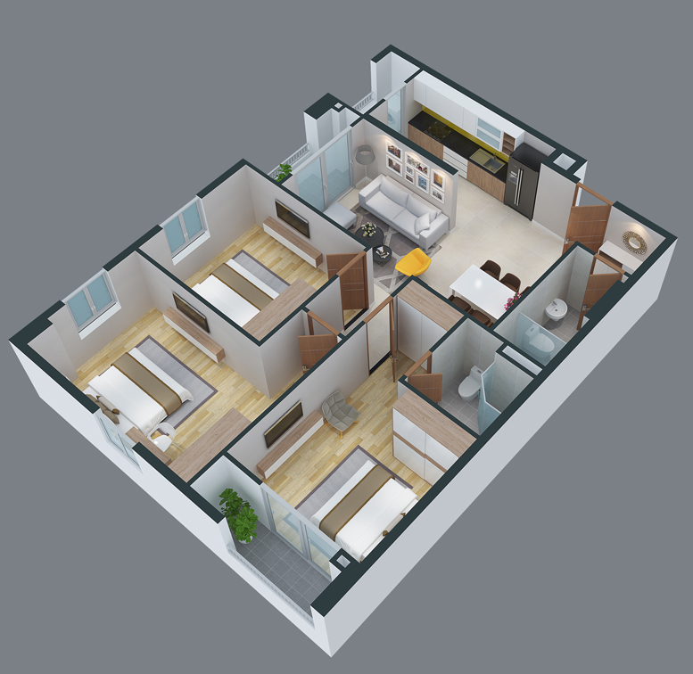 mat bang can ho cityland park hills apartmetnt ch-16-1