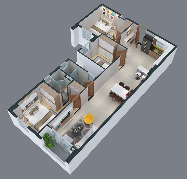 mat bang can ho cityland park hills apartmetnt ch-18-1