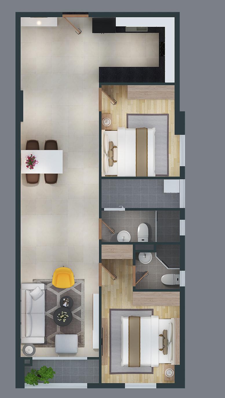 mat bang can ho cityland park hills apartmetnt ch-19-2