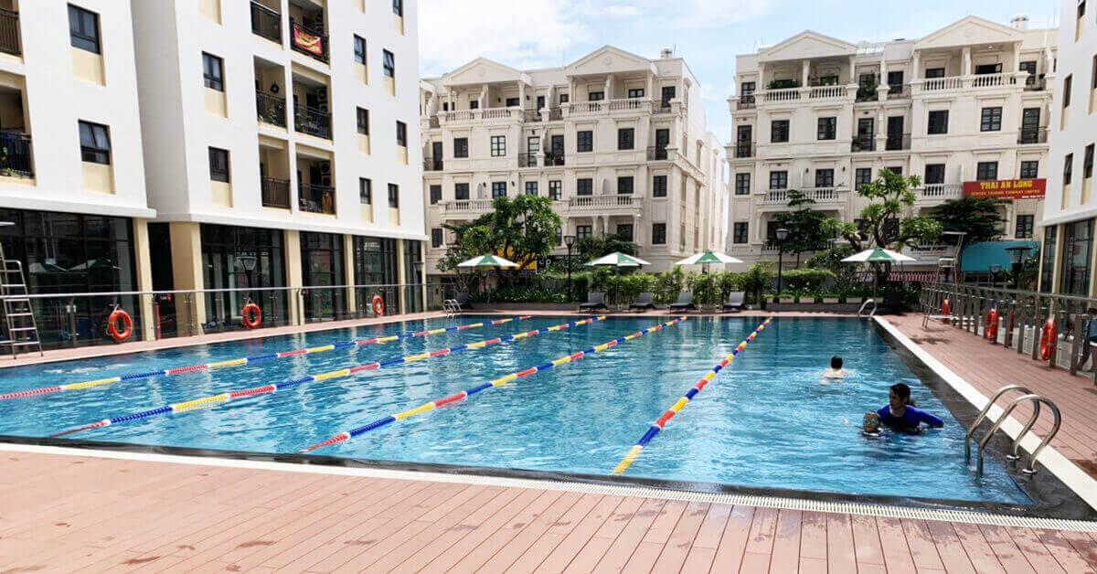 hồ bơi chung cư Cityland Gò Vấp