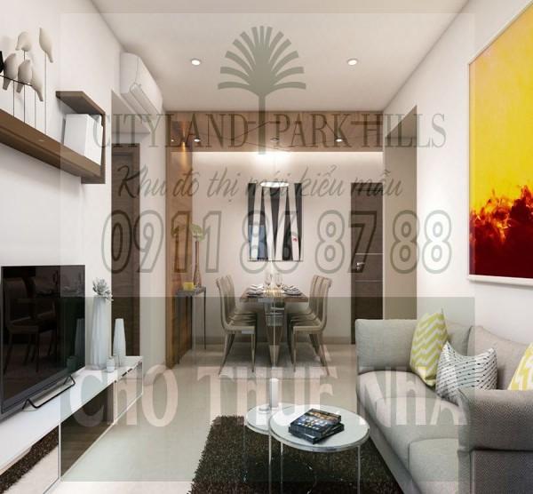 Cho thuê căn hộ Cityland Park Hills 3 phòng ngủ View sân bay