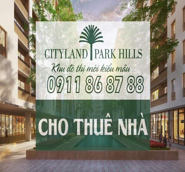 Cho thuê căn hộ Cityland 2 phòng ngủ view hồ cảnh quan