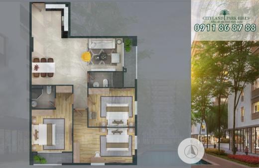 Chính chủ bán căn hộ Cityland Park Hills Tháp P1, 3PN